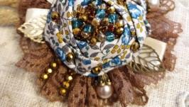 Брошь винтажная ′Букет из сухоцветов′
