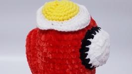Among us toy, амонг ас красная плюшевая игрушка 22 см.