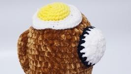 Among us toy, амонг ас коричневая плюшевая игрушка 22 см.