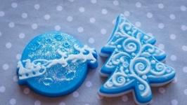 Набор мыла ручной работы ′Дед мороз спешит на праздник′