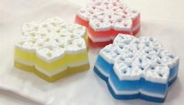 Набор мыла ′Три снежинки′ с апельсиновым ароматом