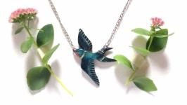 Кулон ласточка ′Сейлим′ подвеска украшение с птицей уникальный подарок