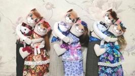 Кошечки неразлучники на ситцевую свадьбу