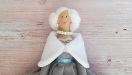 тут изображено Интерьерная кукла Тильда ручной работы