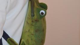 Рюкзак детский валяный Лягушка-путешественница.