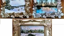 Зимние миниатюры 14,15 и 4