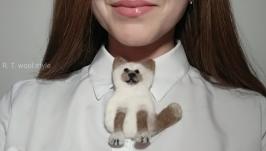 Брошка валяна ′Kitten′
