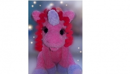 Soft toy unicorn.
