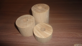 Цилиндр деревянный D 6 см