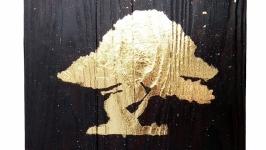 Деревянная картина: ′БЛЕСК ЗОЛОТОГО ДЕРЕВА′