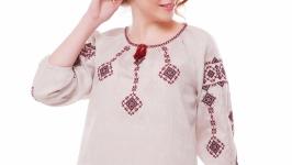 Блуза жіноча Іванна (льон сірий)