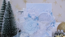 Зимові вітання листівка