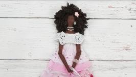 тут изображено Интерьерная кукла ручной работы Тильда