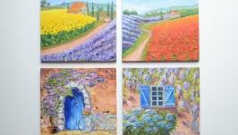 Комплект картин в стиле Прованс, (2)