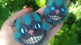 Валяная брошка в виде кота ′Чешир′
