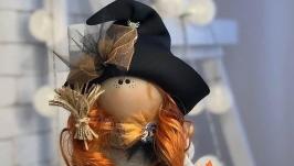 Текстильна Лялька ′Відьмочка′, стиль Тільда