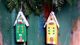 Интерьерные домики, комплект домиков
