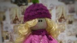 Интерьерная вязаная кукла