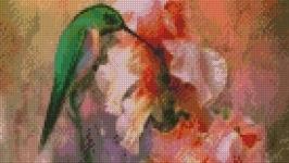 Схема для вышивки картины Ирисы и колибри