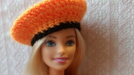 Orangeblack suit for Barbie dolls