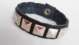 Кожаный браслет ′SilSq′