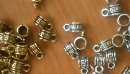 бейл для кулона 5 на 10 мм серебро и золото
