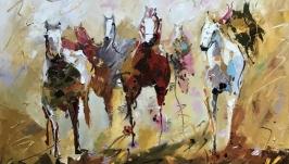Абстракция, арт « Лошади»