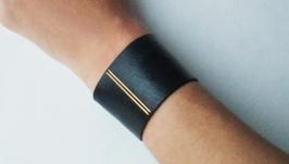 Кожаный браслет ′SavorBlack′