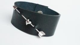 Кожаный браслет ′AHeart′