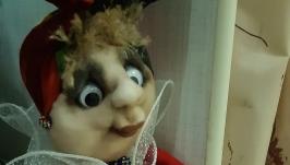 Кукла текстильная- держатель туалетной бумаги.