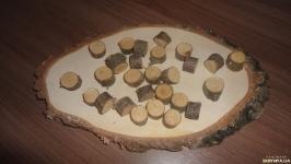 Срез деревянный. Спил вишни D 2 см 23 штуки