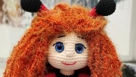 Кукла Божья коровка подарок сувенир игрушка