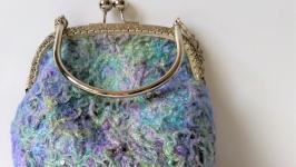 Валяная сумочка, косметичка Млечный путь