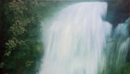Картина маслом. Водопад