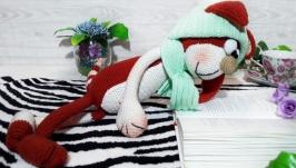 Кот Аркадий рыжий.