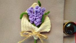 Brooch ′Bouquet of lavender′