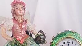 Часы настольные каминные Лесная фея