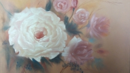 Картина маслом: Нежные цветы