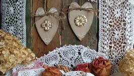 Сердечки-валентинки, интерьерные подвески