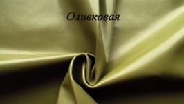Оливковая тонкая натуральная кожа для рукоделия, 0,5 мм