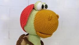 Черепаха  Аркадий, игрушка крючком