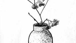 Ваза с веткой  Vase with a Branch