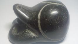 Статуэтка Черепаха, натуральный антикварный нефрит, дл. 5 см