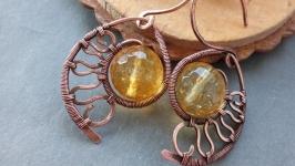 Медные серьги ′Золото ацтеков′