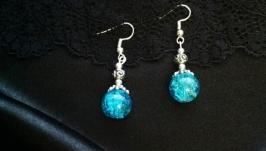 Earrings silver jewelry handmade dangler coral lava agat quarz turquise new