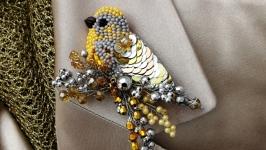 Модная брошка птица