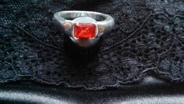 Silver Ring jewelry handmade ruby zitrin topaz amethyst garnet wedding gift