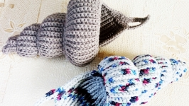 Knitted basket shell