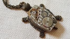 Кулон Черепаха в стиле стимпанк steampunk