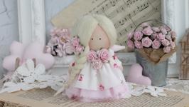 Маленький текстильный ангел. Ручная работа